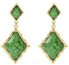 Amrita Singh Reign Wainscot Evergreen Faceted Resin Earrings ERC 5001 NWT