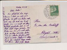 LM08295 Germany 1938 Breslau postcard with nice cancels used