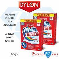 2 x DYLON Colour Catcher - VALUE PACK - Prevents Colour Run - 80 Sheets Total