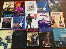 Lot of 15 Rock Guitar Tab Ac/Dc, Aerosmith, Bruce Springsteen, Stevie ray