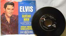 ELVIS GUITAR MAN / HIGH HEEL SNEAKERS 45 RPM PS RECORD