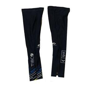 New 2020 Women's Voler Team Tibco Pro Cycling Leg Warmers, Navy, Size Medium