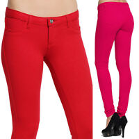 MOGAN Colored Super Stretch Compy SKINNY PANTS Knit Jeggings Zipper Leggings L