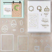 Barn Door Happiness Metal Cutting Dies & Stamps For Scrapbooking Embossing Decor