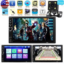 Free Rear Camera + Bluetooth Stereo Radio Car 7'' HD MP5 FM Player Touch Screen