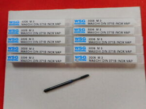 Maschio Per Filettare WSG CUTTING TOOLS misura M3 filetto metrico LOTTO 10PZ