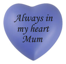 Always In My Heart Mum Purple Heart Urn Keepsake for Ashes Cremation Cremains