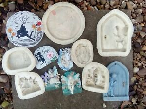 6 New latex moulds, large fairy job lot garden, home ornaments👼💞