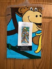New Mainstay Brand Monkey Design Beach Towel