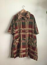 New listing 1940s 40s Vintage Vtg Camp Plaid Wool Beacon Blanket Coat Cape Jacket