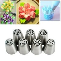 Russian Tulip Flower Cake Icing Piping Nozzles Decorating Tips Baking Tools 7Pcs