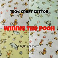 Winnie The Pooh 100% Craft Cotton with Tigger, Eeyore, Piglet - Fat Quarters
