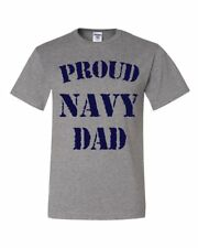 Proud Navy Dad T-Shirt Patriotic Veteran Navy Seal Father's Day Tee Shirt