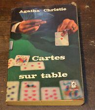 LIVRE AGATHA CHRISTIE HERCULE POIROT CARTE SUR TABLE