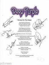 Deep Purple lyrics by 5 Smoke On The Water Ian Gillan, Ian Paice, Roger Glover .