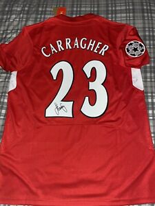 JAMIE CARRAGHER HAND SIGNED LIVERPOOL 2005 CHAMPIONS LEAGUE SHIRT PROOF+COA