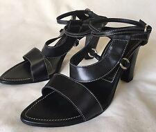 Sergio Rossi Black High Heel Sandals EU 38.5