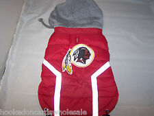 Washington Redskins NFL Dog Vest Coat Jacket Puffer Style Hooded - Large