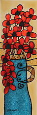 """A. Ben Simhon Serigraph on Paper """"Red Blossom"""""""