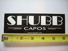 "Shubb Capos Vinyl Sticker 6"" x 2"""