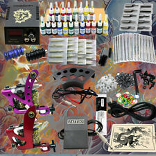NEU Profi Tattoomaschine set Tätowier Maschine Tattoo Gun Tattoofarbe ink DHL DE