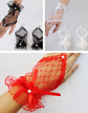 Lace Gloves Wrist Gloves Fingerless Brides Evening Party Short Dress UK SELLER