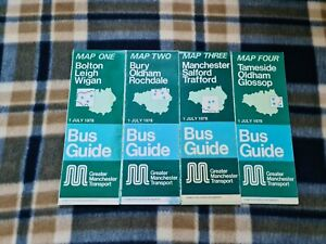 Greater Manchester Transport Bus Network Maps – 1978