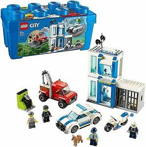 Lego City 60270 Police Station Brick Box Storage Set 301pcs New Kids Xmas Toy 5+