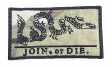 US NAVY Join Or Die SEALS USN Army Multicam Klett patch