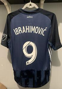 $165 Adidas MLS LA Galaxy Ibrahimovic Player Issued Soccer Jersey Size Medium