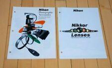 2 Nikon Photography Brochures, Nikkor Lenses & Photographic Accessories