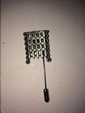 a tie stick pin Hat Scarf Port Cullis Dr36 Fine English Pewter on