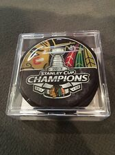 Chicago Blackhawks Marian Hossa Autographed Stanley Cup Champions Hockey Puck