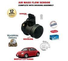para VOLKSWAGEN ESCARABAJO 1.8 Turbo 1999-2010 NUEVO Sensor de masa AIRE + FUNDA
