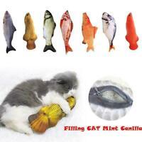 Cat Wagging Fish Realistic Plush Realistic Pet Toy Pet Fish Catnip Stuffed K1A4