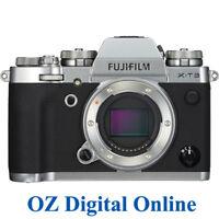 NEW Fujifilm X-T3 Body Silver Mirrorless 26.1MP 4K Wifi F-Log Camera 1 Yr Au Wty