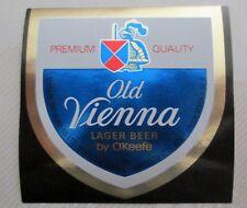 VINTAGE BEER LABEL  OLD VIENNA O'KEEFE BREWING CO LTD WINNIPEG Canada