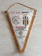 Rarissimo gagliardetto finale coppa campioni Juve-Ajax 1996 da collezione
