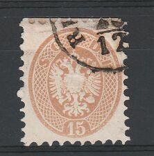 FRANCOBOLLI 1864 LOMBARDO VENETO 15 SOLDI USATO A/4194
