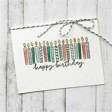 20PCS Happy Birthday Stamps Candle Clear Stamp DIY Gift Paper Craft Silicone TOP