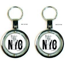 BEATLES Keychain Portachiavi John Lennon NYC OFFICIAL MERCHANDISE