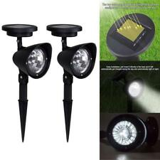 2pcs 3LED Solar Power Spot Lights Outdoor Landscape Garden Lawn Path Lamps