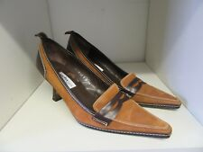 SACHA LONDON TAN SUEDE BROWN LEATHER SHOES SIZE 39 - 6.5
