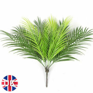 Artificial Tropical Palm Leaves Tree Fake Plants Bedroom Decor Accessories UK