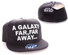 STAR WARS SNAPBACK CAP 'A GALAXY FAR, FAR AWAY' BLACK HAT OFFICIAL NEW