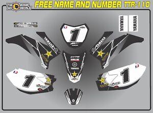 YAMAHA TTR110 decals graphics  personal laminated motocross BLACK