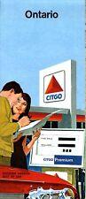 1966 Citgo Road Map: Ontario NOS