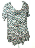 LulaRoe Perfect T Women's Tunic/Top Short Sleeve Scoop Neck Side Vents Sz S NWT.