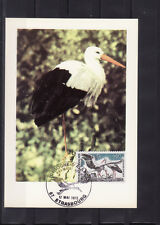 carte  1er jour  faune  cigogne d' Alsace   Strasbourg     1973