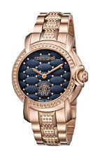 Roberto Cavalli Women's RV1L019M0136 Blue Dial Rose-Gold IP Steel Wristwatch